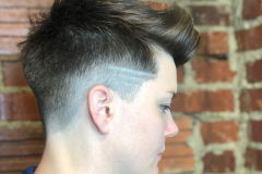 Creative Clipper Cut with Racing Stripe Design