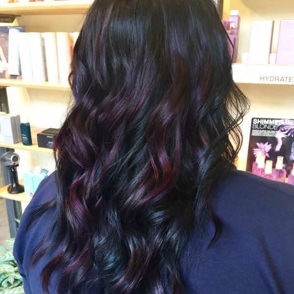 Beautiful dark blue and purple color melt