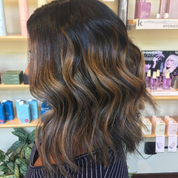 Brunette color treatment