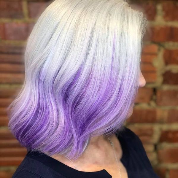 Gorgeous hair color treatment purple