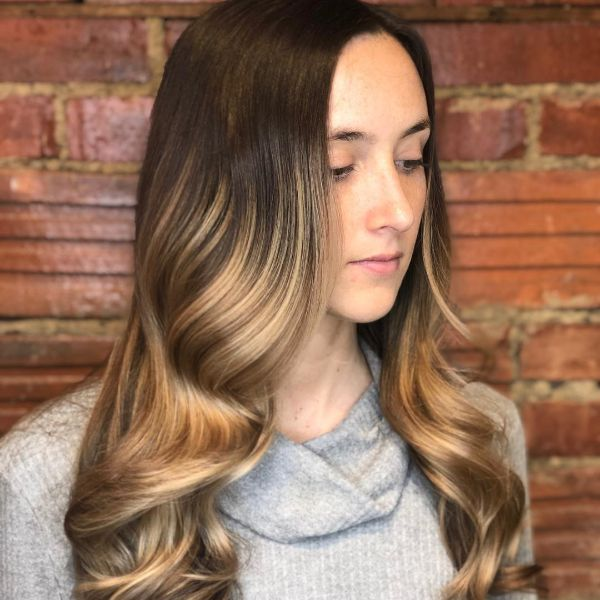 Balayage warm tones for summer
