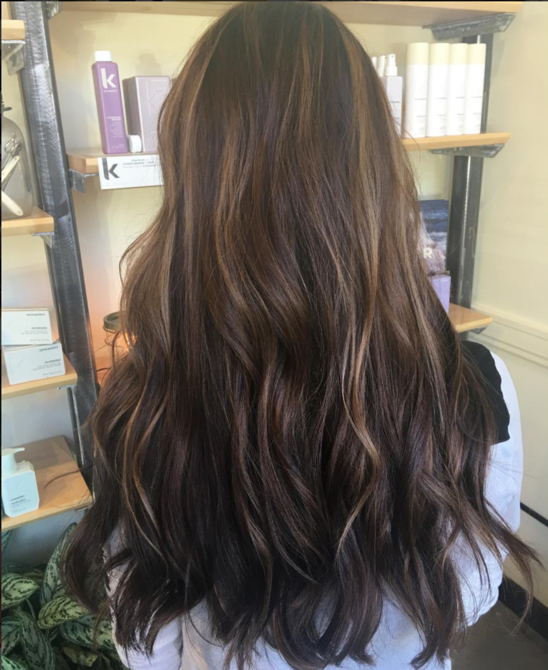 Womens hair color treatment hazelnut